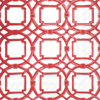 Courtyard Red Cocktail Napkins