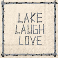 Lake Laugh Love Cocktail Napkins