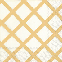 Quilt Gold Cocktail Napkins
