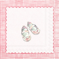 For My Little Baby Light Rose Cocktail Napkins