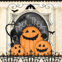 Trick or Treat Pumpkins Cocktail Napkins