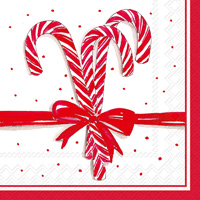 Rosanne Beck Candy Canes Cocktail Napkins