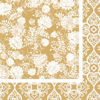 Classic Garden Gold Cocktail Napkins