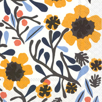 Marimekko Mykero White Yellow Cocktail Napkins