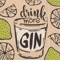 Drink More Gin Cocktail Napkins