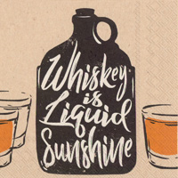 Whiskey is Liquid Sunshine Cocktail Napkins