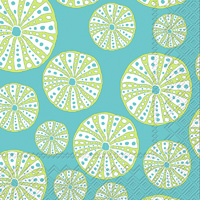 Turquoise Urchin Cocktail Napkins