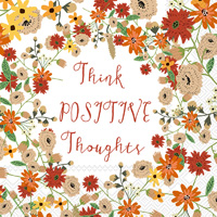 Mia Charro Positive Thoughts Cocktail Napkin