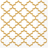 Moroccan Trellis Gold Cocktail Napkins