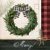 Holiday Wreath Cocktail Napkins