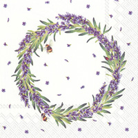 Lavender Wreath Cocktail Napkins