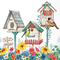 Birdhouse for Rent Cocktail Napkins