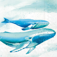 Aquaworld Whale Cocktail Napkins