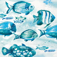 Aquaworld Fish Cocktail Napkins