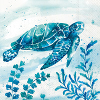 Aquaworld Water Turtle Cocktail Napkins
