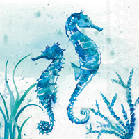 Aquaworld Seahorse Cocktail Napkins