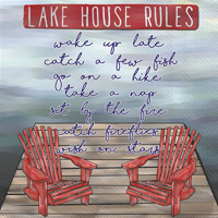 Lake House Rules Cocktail Napkins