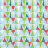Trees in Line Light Blue Cocktail Napkin