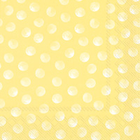 Piggy Dots Cocktail Napkin  yellow