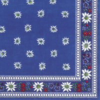 Edelweiss Blue Cocktail Napkins