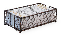Chicken Wire Burnished Copper Guest Caddy