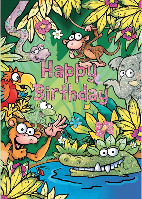 Cardooo Birthday Activity Card Jungle