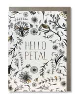 Coloring Card Hello Petal