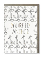 Coloring Card You're My Anchor
