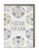 Coloring Card Positive Thinking