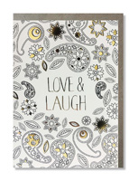 Coloring Card Love & Laugh