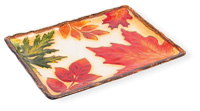 Leaf Glass Rectangle Platter