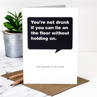 Coulson Macleod Drunk on Floor Greeting Card
