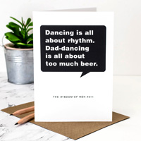 Coulson Macleod Dad Dancing Greeting Card