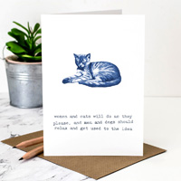 Coulson Macleod Cats Blue Greeting Card