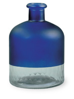Malaga Frosted Dark Blue Bottle Short