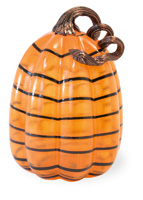 Orange & Black Large Striped Pumpkin