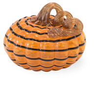 Orange & Black Small Striped Pumpkin