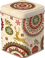 Christmas Ornaments Tea Tin