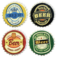 Beer Bottle Tops Coaster Set
