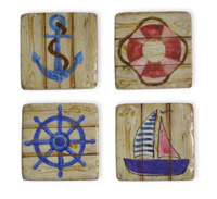Nautical Icons Coaster Set