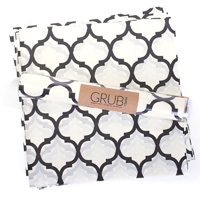 Eat Drink Host Grub Paper Black Quatrefoil