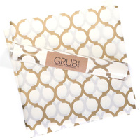 Eat Drink Host Grub Paper Gold Quatrefoil