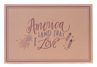 Eat Drink Host Placemats America Land that I Love