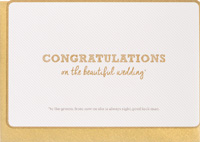 Enfant Terrible Congrats on Your Wedding Card