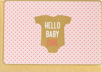 Enfant Terrible Hello Baby Girl Card