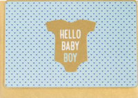 Enfant Terrible Hello Baby Boy Card