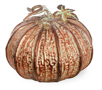 Metal Patina Pumpkin Large