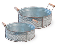 Chicken Wire Round Baskets