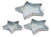 Americana Rustic Metal Star Trays