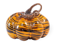 Tiger Print Glass Pumpkin